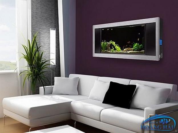 1539657228 Hồ cá treo tường giúp không gian nhà thêm ấn tượng, đẳng cấp