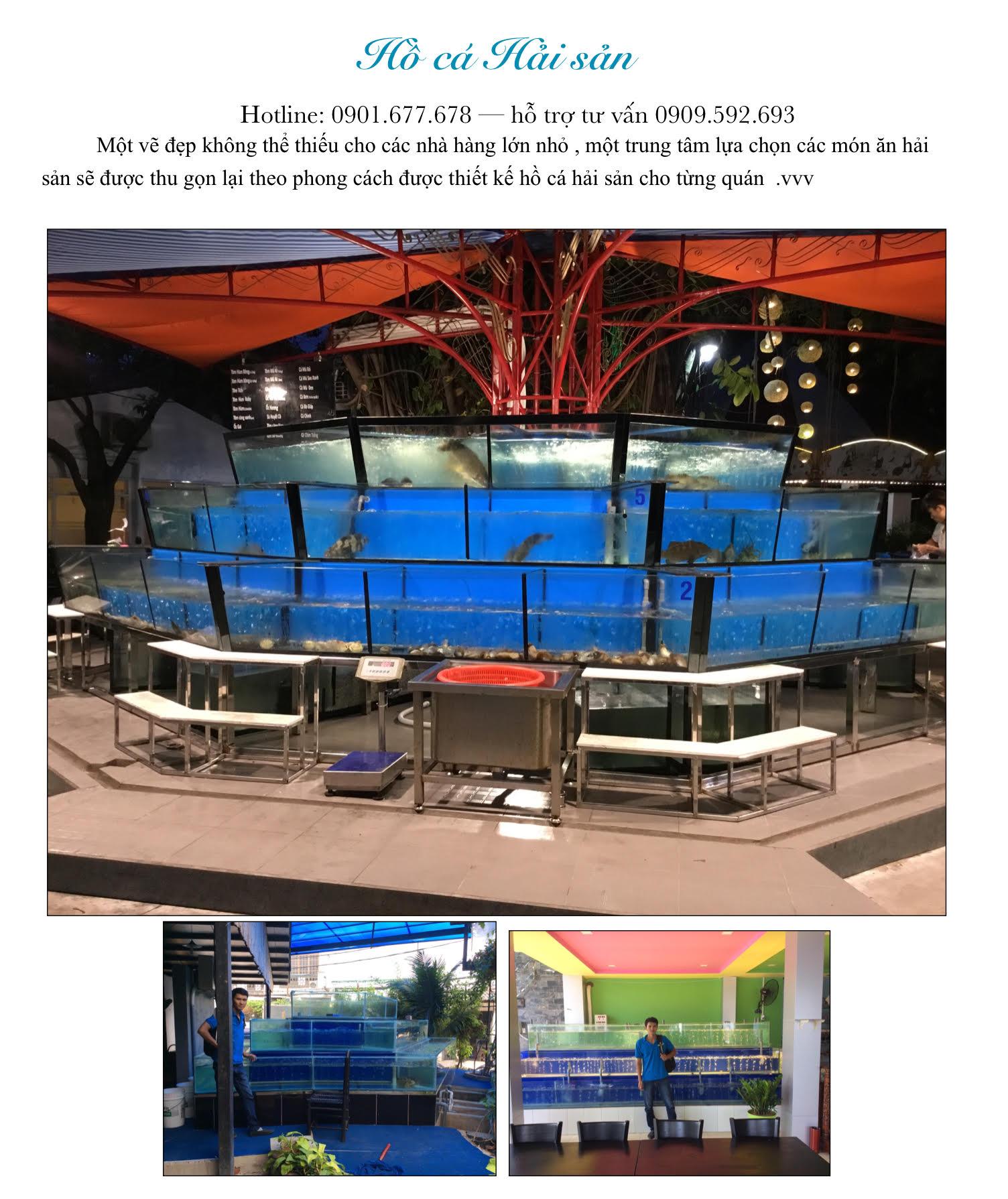 ho-ca-hai-san Thi công công trình lắp đặt hồ cá hải sản chất lượng