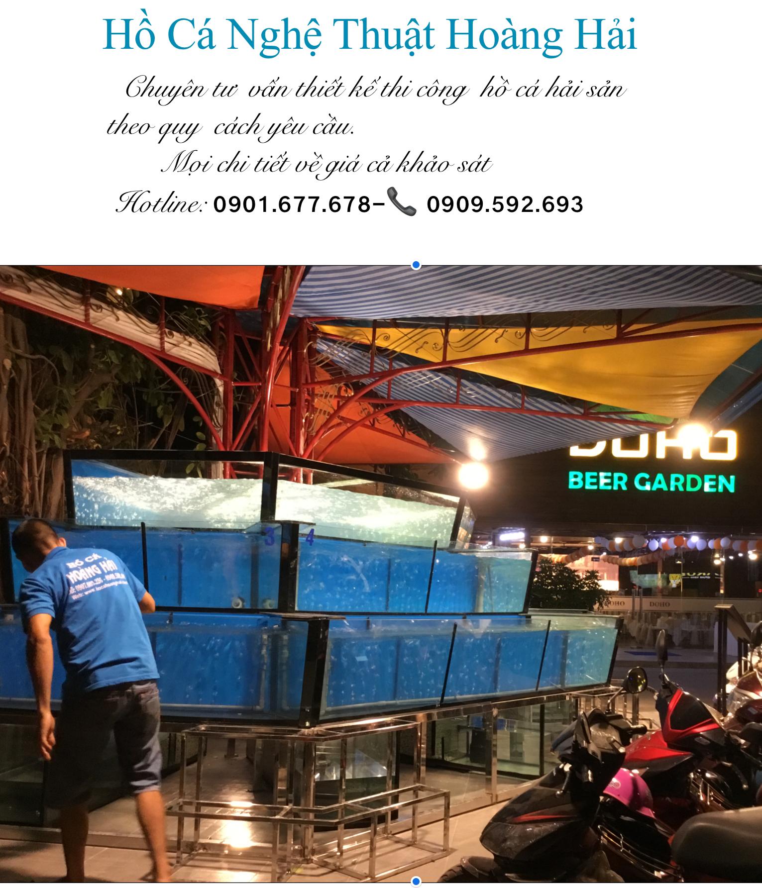 ho-ca-hai-san1 Những lưu ý khi lắp đặt hồ cá hải sản ở nhà hàng